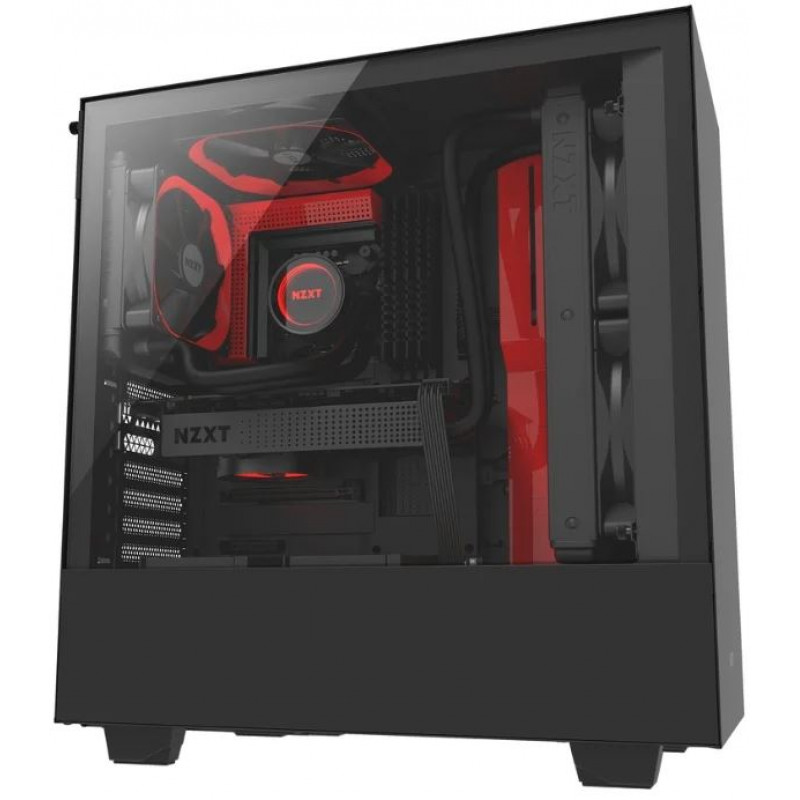 NZXT H500 Black/red <span>GLASS</span>